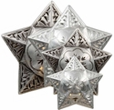 Star Engraved Windrose Conchos