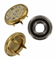 Swarovski 1781/114 11mm Gold-Plated Multi-Stoned Snap Fastener