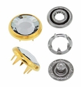 Swarovski Elements 11mm faceted snap fastener gold crystal 72 Sets