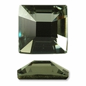 Swarovski Square Rhinestone Black Diamond 25mm