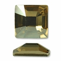 Swarovski Square Rhinetone Golden Shadow 25mm