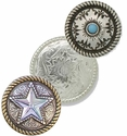 Tandy Rope Edge Conchos
