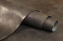 Water Buffalo Hide Hand Antiqued Black Finished Leather 8-9oz