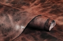 Water Buffalo Hide Hand Antiqued Brown Finished Leather 8-9oz