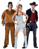 Cowboy & Indian Adult Costumes