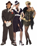 Gangster & Flapper Girl Adult Costumes