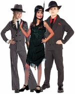 Gangster & Flapper Girl Kids Costumes