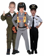 Pilot & Stewardess Kids Costumes