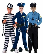 Police & Prisoner Kids Costumes