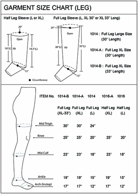 Air Sequential Compression Therapy - Complete XL Half Leg Set
