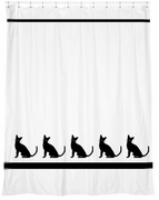 Cat Breed Shower Curtain