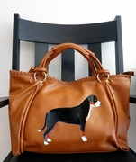 Greater Swiss Mountain Dog Hand Painted Purse