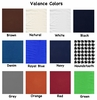 Window Valance Colors