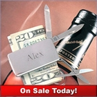 Silver Pocket Knife Money Clip