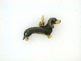 Dachshund K046Y Shorthaired/Rhodium (18KYG)