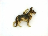 German Shepherd K041Y/Rhodium (18KYG)