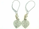 Heart Paw ER161CW Tag/2-DS Lever Back Earring (WG)