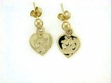Heart Paw ER161CY Tag Ball Drop Earring