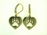 Heart Paw ER514BY Open Lever Back Earring