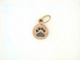 Round Paw C162CR Tag/Rhodium Black (RG)