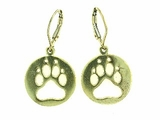 Round Paw ER512BY Open Lever Back Earring