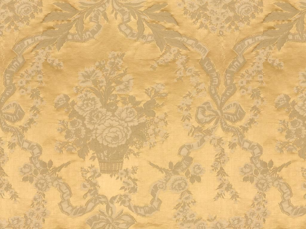 Red And Gold Damask Fabric Lampas Damask Fabric Gold