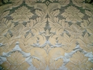 BRUNSCHWIG & FILS GRAND DAMASK SILK SATIN FABRIC AQUA BLUE BEIGE 10 YARDS