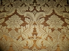 BRUNSCHWIG & FILS GRAND DAMASK SILK SATIN FABRIC COPPER GOLD 10 YARDS