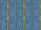 BRUNSCHWIG & FILS HARMONY STRIPE COTTON FABRIC BLUE