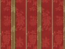 BRUNSCHWIG & FILS HARMONY STRIPE COTTON FABRIC RED