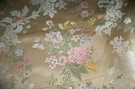 BRUNSCHWIG & FILS RAVENNA FRENCH COUNTRY ROSES FLORAL WOVEN DAMASK BROCADE FABRIC 30 YARD BOLT GOLD
