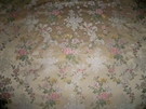 BRUNSCHWIG & FILS RAVENNA FRENCH COUNTRY ROSES FLORAL WOVEN DAMASK BROCADE FABRIC GOLD ROSE GREEN MULTI