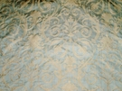 BRUNSCHWIG & FILS TULANE ORNAMENTAL SCROLLS STRIE SILK DAMASK FABRIC AQUA