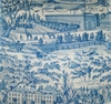 BRUNSCHWIG & FILS  ZARAFA TOILE FABRIC BLUE