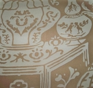 CLARENCE HOUSE CHINOSERIE NEW VASE DAMASK BROCADE TOILE FABRIC BEIGE