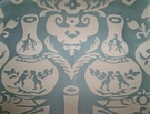 CLARENCE HOUSE CHINOSERIE NEW VASE DAMASK BROCADE TOILE FABRIC BLUE