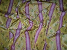 CLARENCE HOUSE MAITLAND SHABBY ROSES (ROSEBUDS) FRENCH LISERE SILK DAMASK FABRIC 10 YARDS GOLDENROD YELLOW ROSE OPAL GREEN