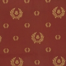 DESIGNER IMPERIAL BEE LAUREL WREATH DAMASK FABRIC BURGUNDY