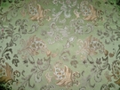 DESIGNER JACOBIE JACOBEAN DAMASK FABRIC JADE GOLD BRONZE