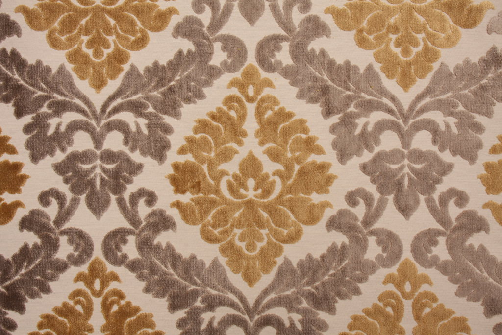 Red And Gold Damask Fabric Velvet Damask Fabric Gold