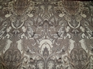 DESIGNER NOUVELLE ART NOUVEAU DECO DAMASK FABRIC CREAM TAUPE CHARCOAL