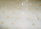 ELEGANT NEOCLASSICAL BEE DAMASK FABRIC CORNSILK