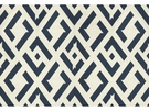 KRAVET CHINA CLUB LINEN FABRIC INDIGO