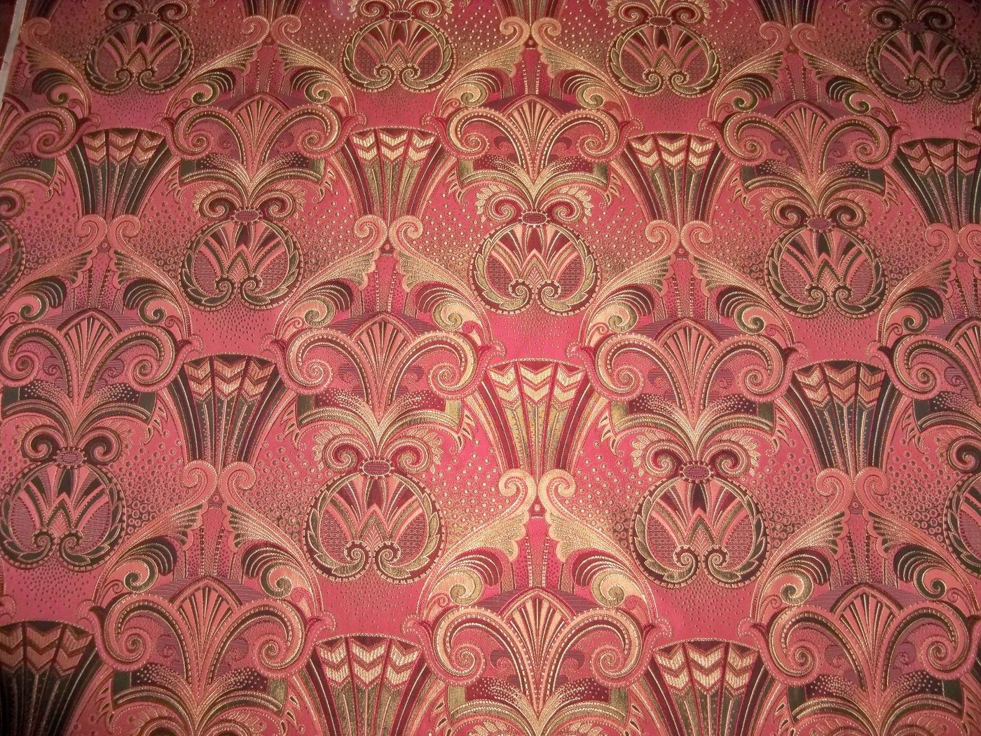 Red And Gold Damask Fabric Damask Fabric Pink Gold 3