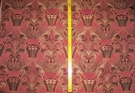 KRAVET COUTURE ART NOUVEAU DECO DAMASK FABRIC PINK GOLD 3 YARD REMNANT