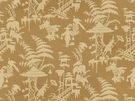 KRAVET COUTURE / BARBARA BARRY  INDO NIGHT LINEN FABRIC KUMQUAT
