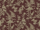 KRAVET COUTURE / BARBARA BARRY  INDO NIGHT LINEN FABRIC PLUM