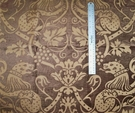 KRAVET COUTURE BELGIUM GRIFFITH CHENILLE DAMASK FABRIC BROWN BEIGE