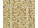 KRAVET COUTURE CEYLON KEY EMBOIDERED LINEN FABERIC SPUNGOLD