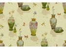 KRAVET COUTURE DRAGONFLY VASES LINEN FABRIC MULTI
